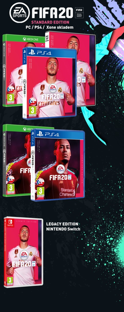 FIFA 20 - PC, PS4, Xone a Nintendo Switch
